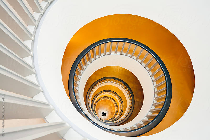 Europe, Germany, Berlin, Spiral staircase by Gavin Hellier for Stocksy United