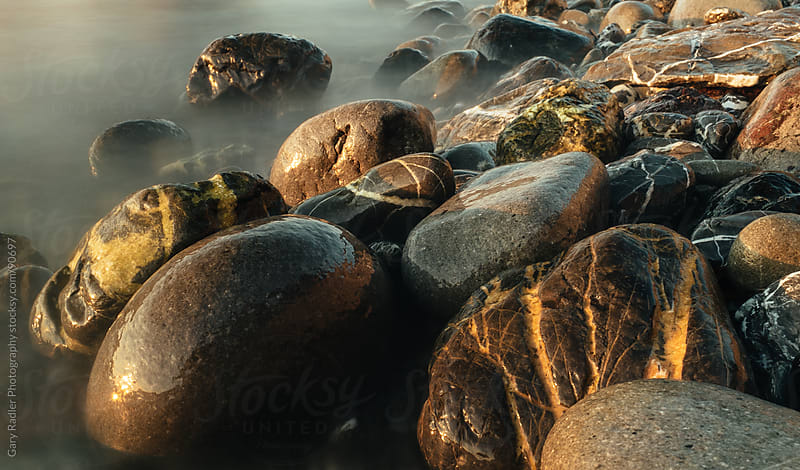 Long Exposure Pic of Rocks on a Beach by Gary Radler Photography for Stocksy United
