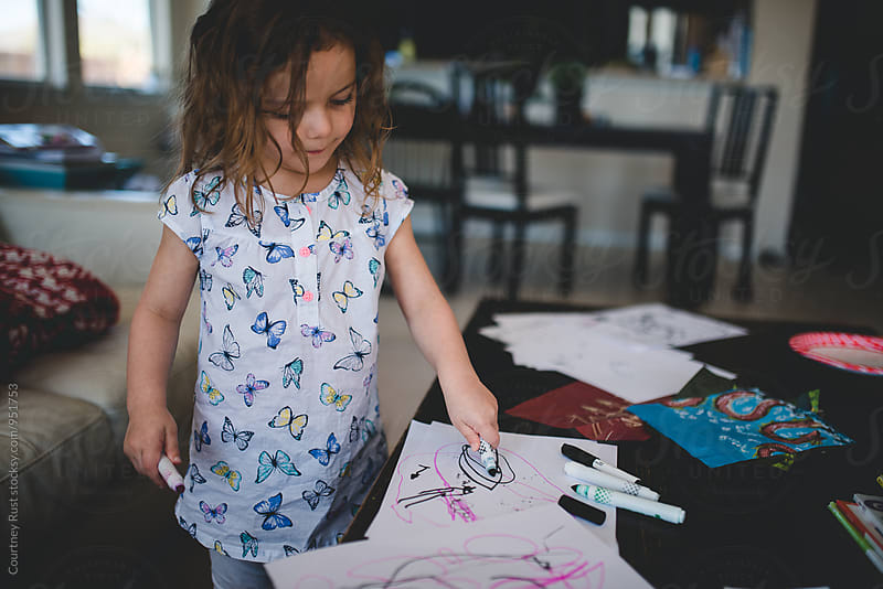 Budding artist by Courtney Rust for Stocksy United