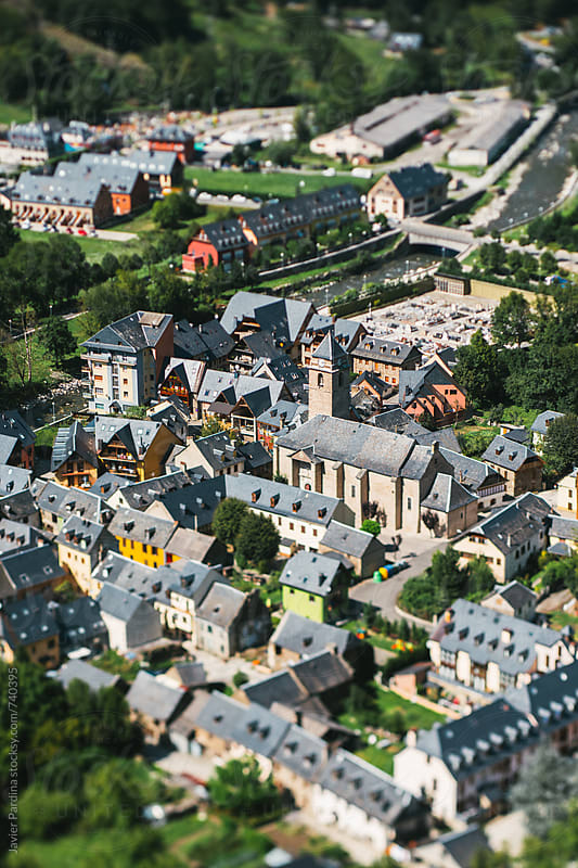 details of pyrenees town by Javier Pardina for Stocksy United