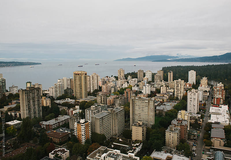 View of downtown Vancouver and Vancouver Bay by kkgas for Stocksy United