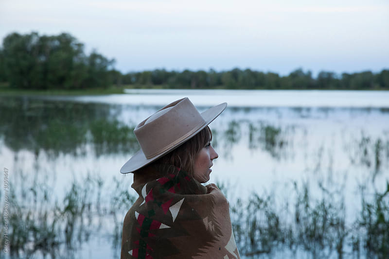 Woman At A Lake by Carey Haider for Stocksy United
