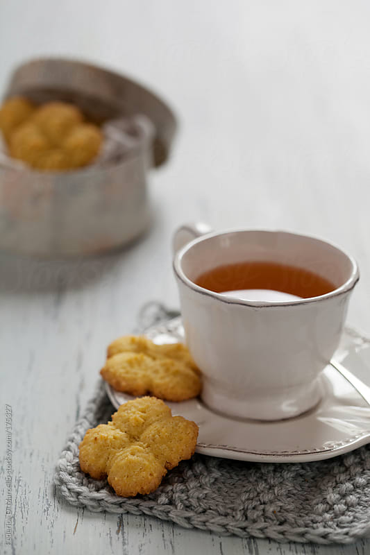 Coconut and cornmeal shortbread  by Federica Di Marcello for Stocksy United