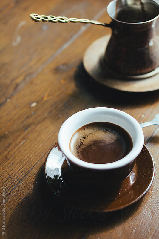 Drinking Turkish coffee by Pixel Stories for Stocksy United