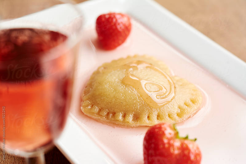 Strawberry Filled Pierogi by Harald Walker for Stocksy United