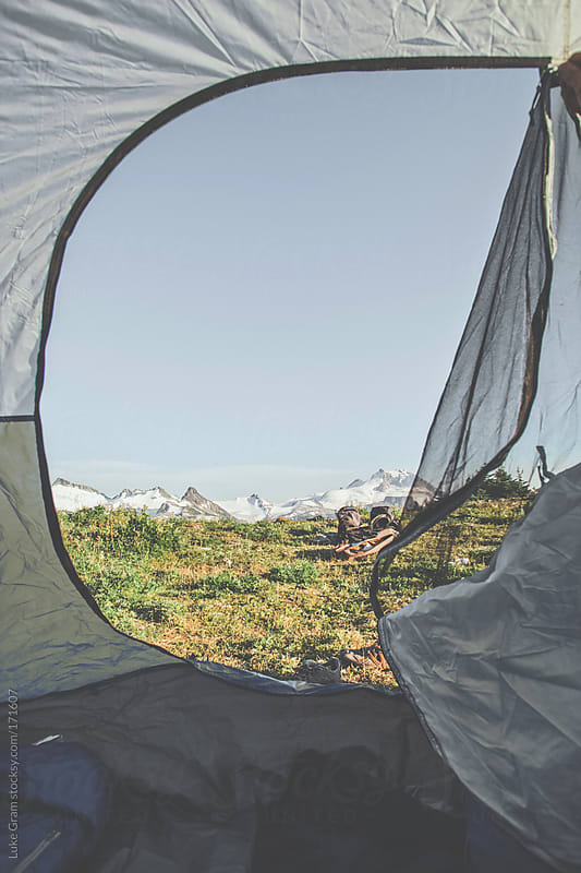 Camping in Garibaldi Provincial Park by Luke Gram for Stocksy United