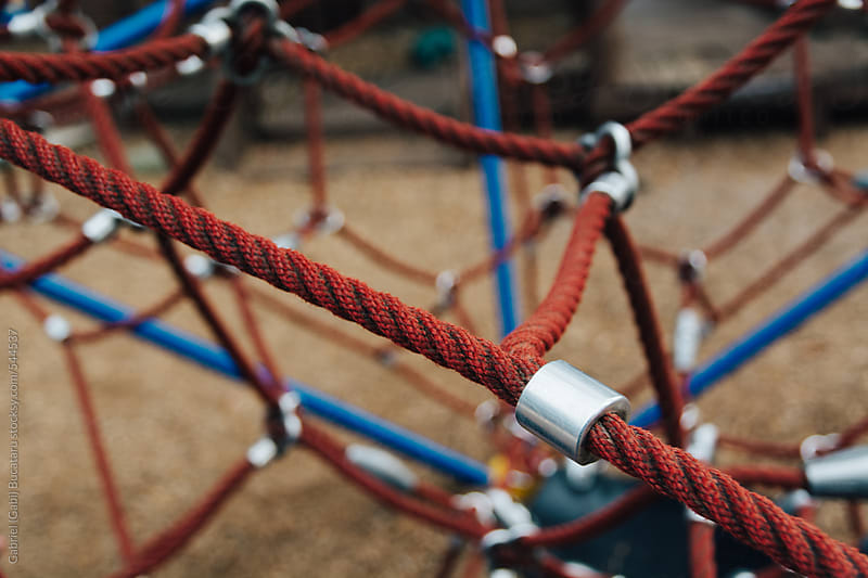 A network of ropes for climbing at a children's park by Gabriel (Gabi) Bucataru for Stocksy United