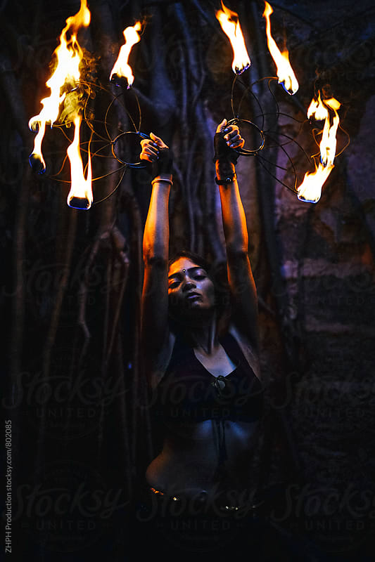 Beauty and flame by ZHPH Production for Stocksy United