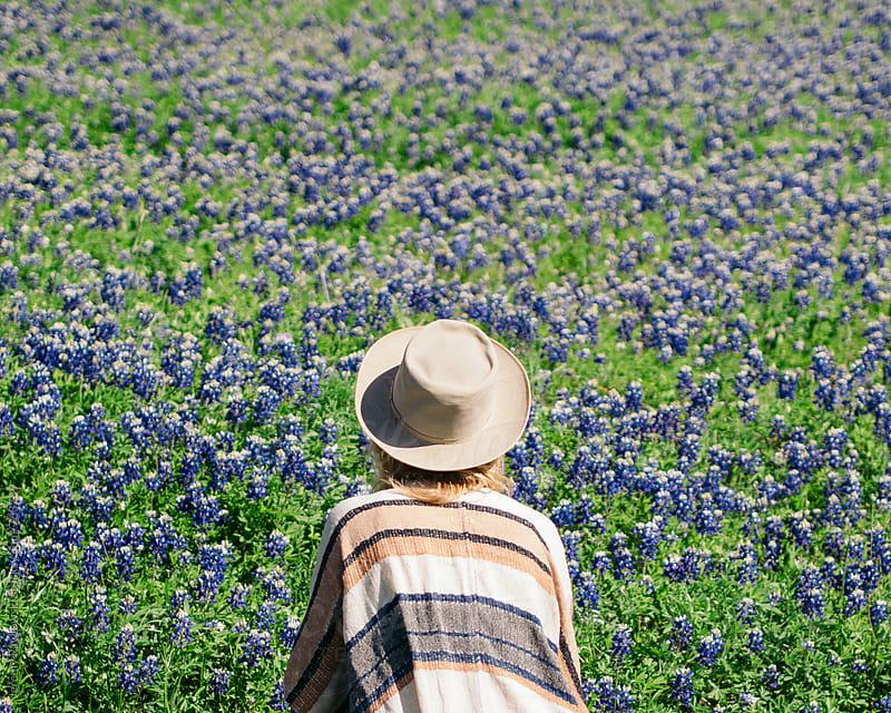 Girl among wild flowers, Texas. by Jeremy Pawlowski for Stocksy United