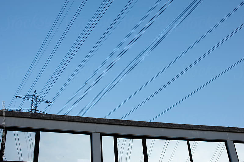 Building and wires by Bratislav Nadezdic for Stocksy United
