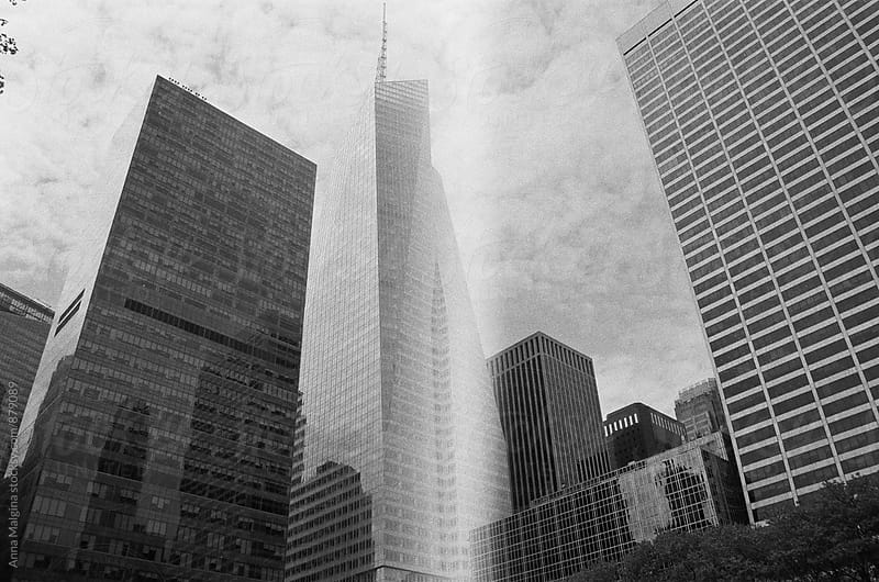 The black and white film photo of New York by Anna Malgina for Stocksy United