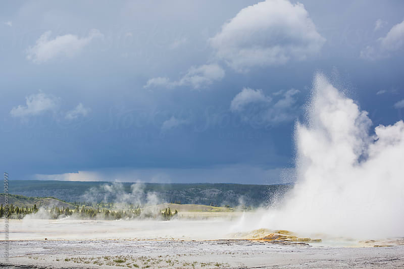 Geyser at Yellowstone National Park by michela ravasio for Stocksy United
