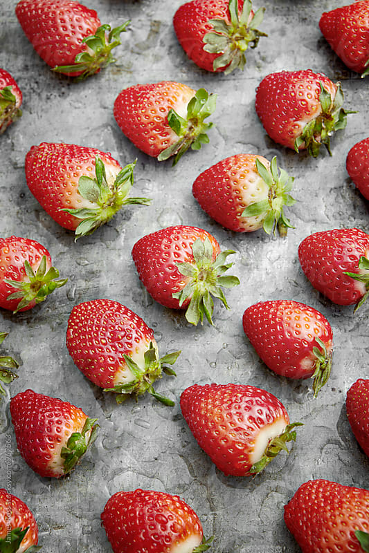 Strawberries by James Ross for Stocksy United