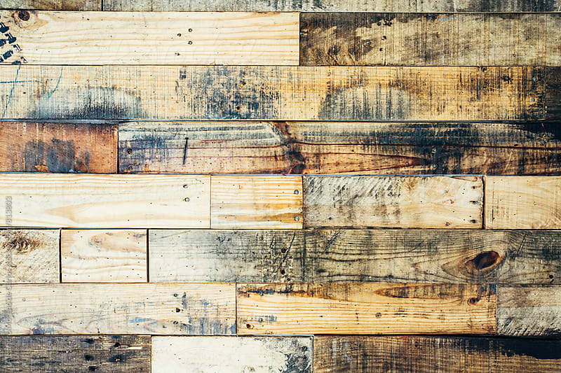 Horizontal pattern of a kindling wood panel close up by Alejandro Moreno de Carlos for Stocksy United