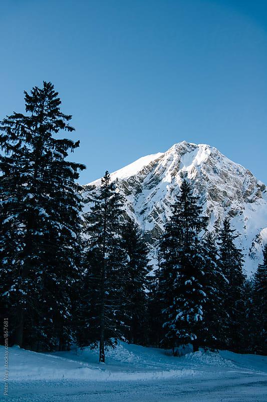 Mountains at Adelboden by Peter Wey for Stocksy United