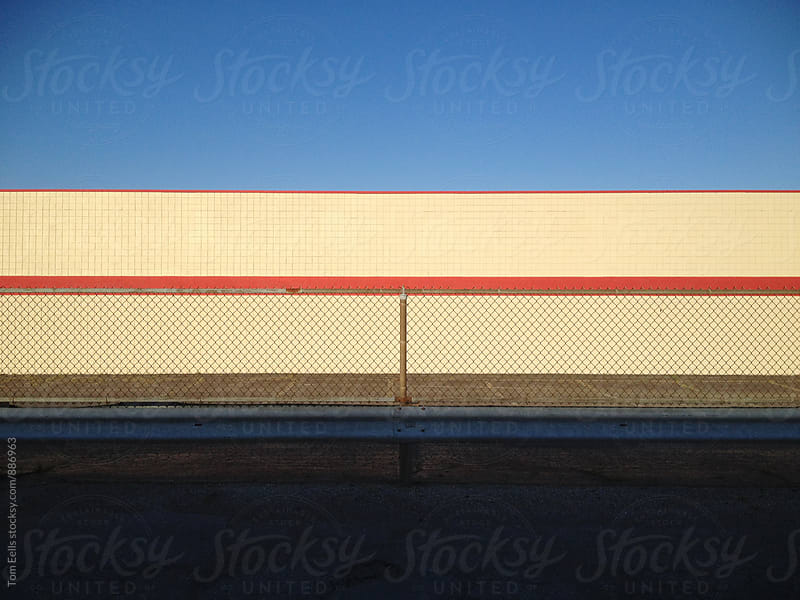 Minimal view of a plaza store façade by Tom Eells for Stocksy United