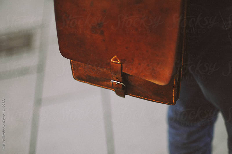Vintage man leather bag by Jovana Vukotic for Stocksy United