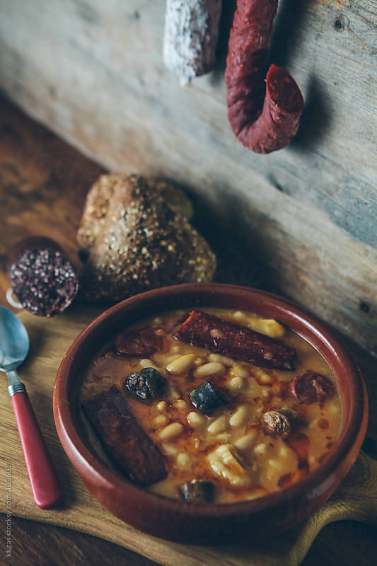 Fabada asturiana by kkgas for Stocksy United