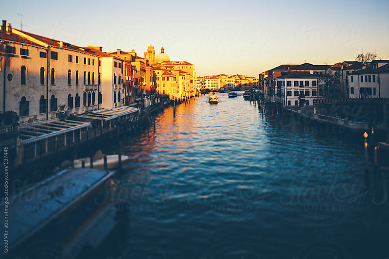 Sunset in Venice by Good Vibrations Images for Stocksy United
