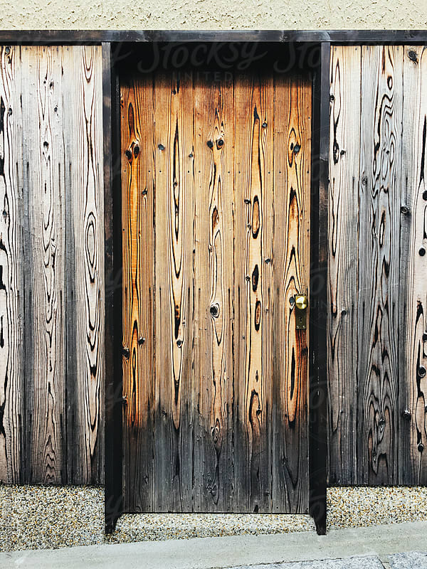 Japanese Architecture - Wooden Door by Julien L. Balmer for Stocksy United