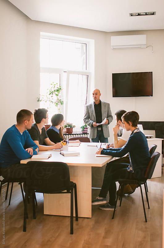 Students in the classroom by Branislav Jovanovic for Stocksy United