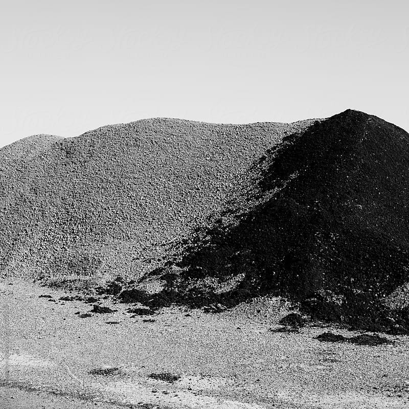 Gravel pile along road, near Jackpot, NV, USA by Paul Edmondson for Stocksy United