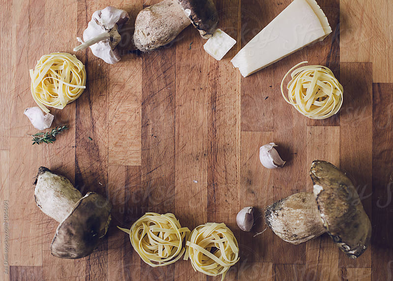 Ingredients for Pasta Porcini by Ani Dimi for Stocksy United