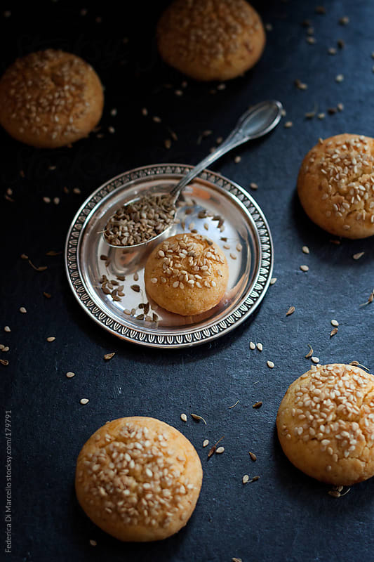 Cookies with sesame seeds  by Federica Di Marcello for Stocksy United