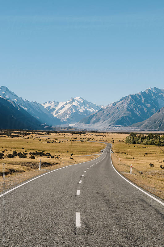 Road into Aoraki / Mt Cook National Park, New Zealand. by Thomas Pickard Photography Ltd. for Stocksy United