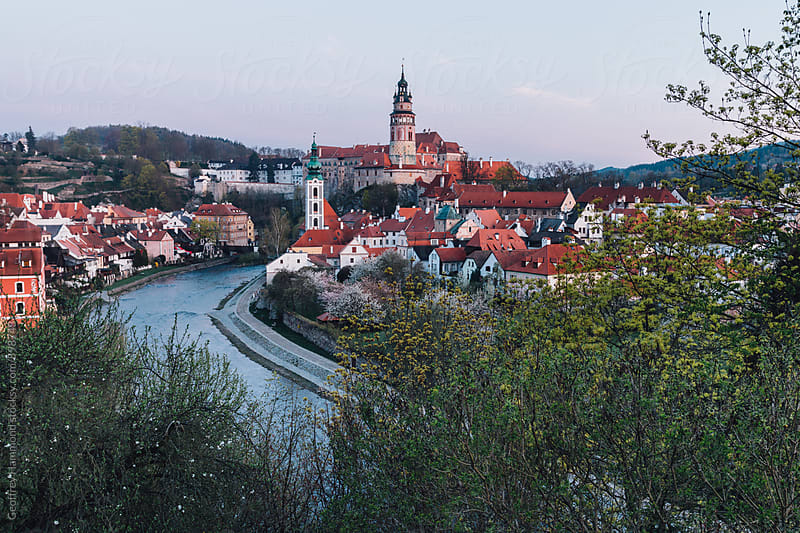 Castle and Town of Cesky Krumlov, Czech Republic by Geoffrey Hammond for Stocksy United