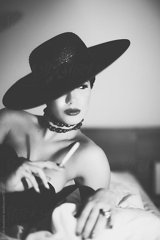 Sensual woman in Black and white by Koki Jovanovic for Stocksy United