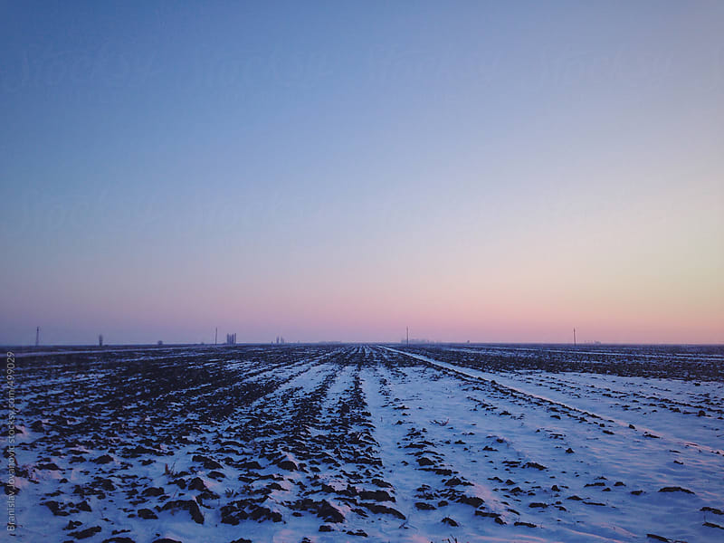 Frozen land on the countryside by Brkati Krokodil for Stocksy United