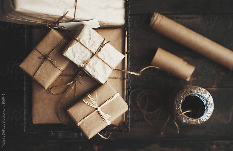Neutral gift wrap by Melanie DeFazio for Stocksy United