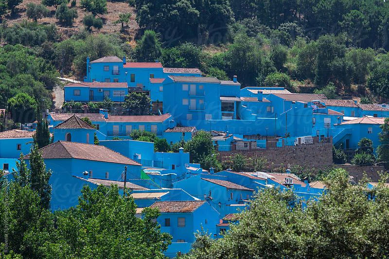 Juzcar - Spain's Blue Town by Rowena Naylor for Stocksy United