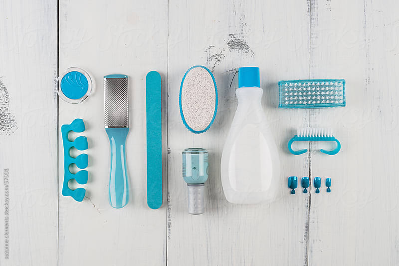 Pedicure and Nail Care Tools for Beauty by suzanne clements for Stocksy United