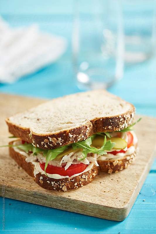 Chicken sandwich by Martí Sans for Stocksy United