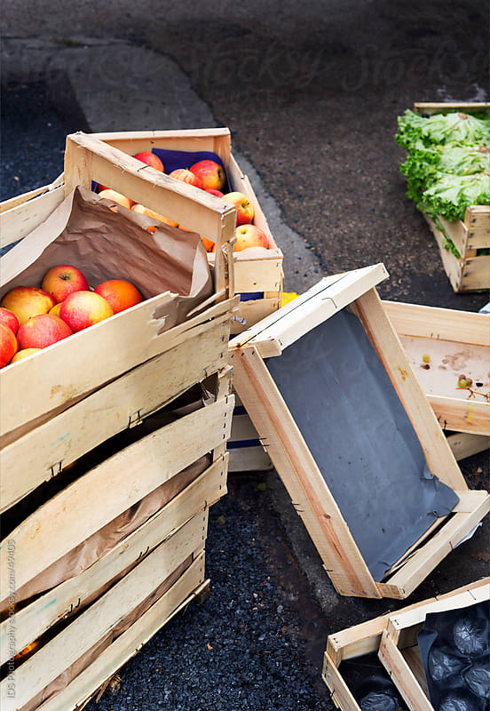 Boxes of fruit. by IDS Photography for Stocksy United