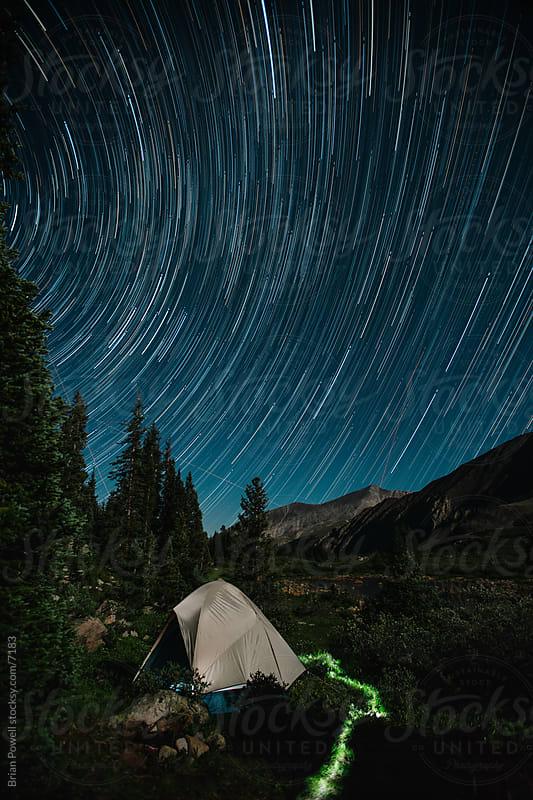 star trails near Buena Vista, CO by Brian Powell for Stocksy United