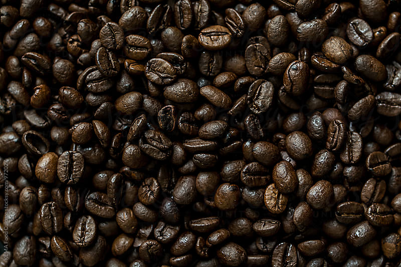 Coffee Beans Background by KEMA Food Culture for Stocksy United