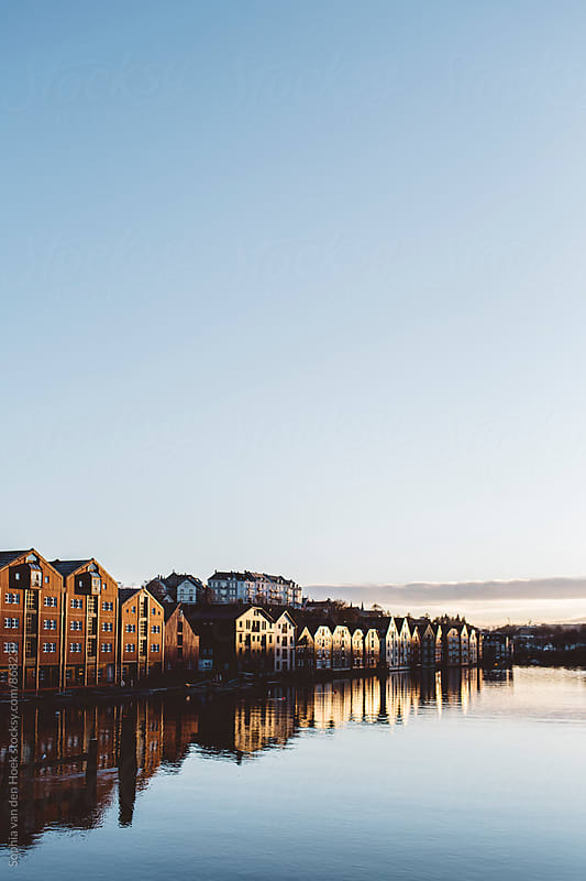 Trondheim river by Sophia van den Hoek for Stocksy United