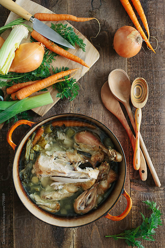 Bone broth: Prep. by Darren Muir for Stocksy United