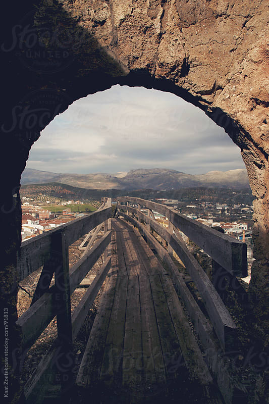 An archway on a castle wall in the small Andalusian town of Priego de Cordoba, Spain by Kaat Zoetekouw for Stocksy United