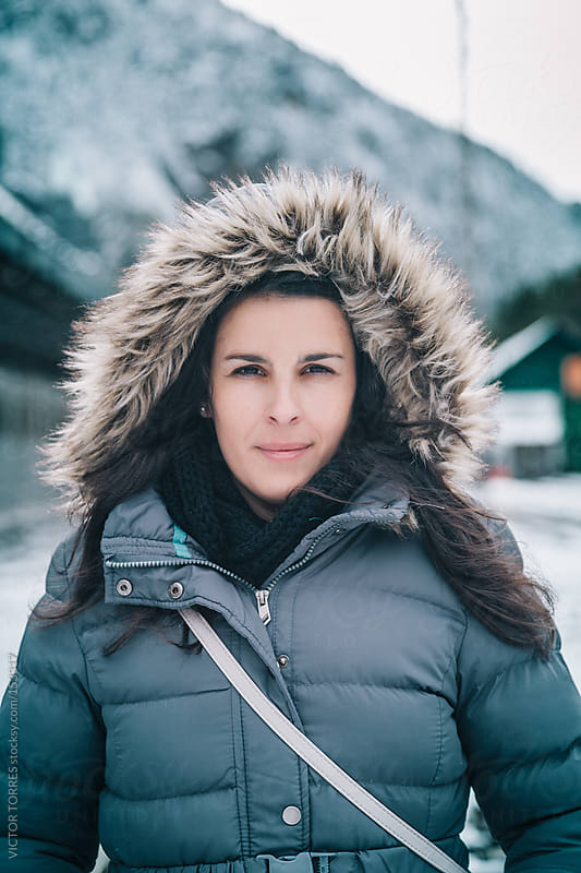 Woman with Winter Wear by VICTOR TORRES for Stocksy United