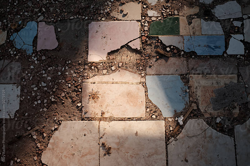 Broken, Strewn Tiles from Above by Gary Radler Photography for Stocksy United