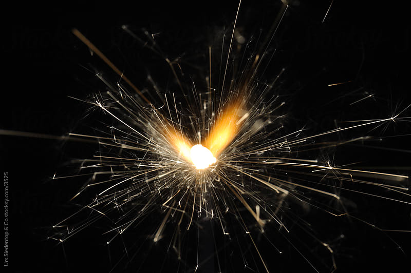 Burning Sparkler by Urs Siedentop & Co for Stocksy United