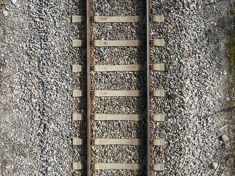 Railway from above by rolfo for Stocksy United