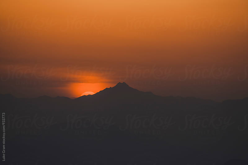 Great Wall of China Sunset View by Luke Gram for Stocksy United