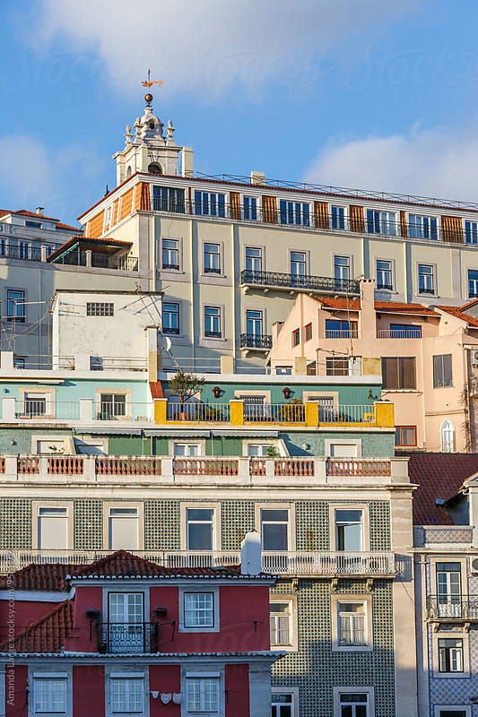 layered building facades in Lisbon, Portugal by Amanda Large for Stocksy United