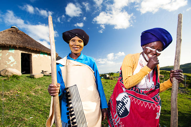 Two African Rural Xhosa Women by Micky Wiswedel for Stocksy United