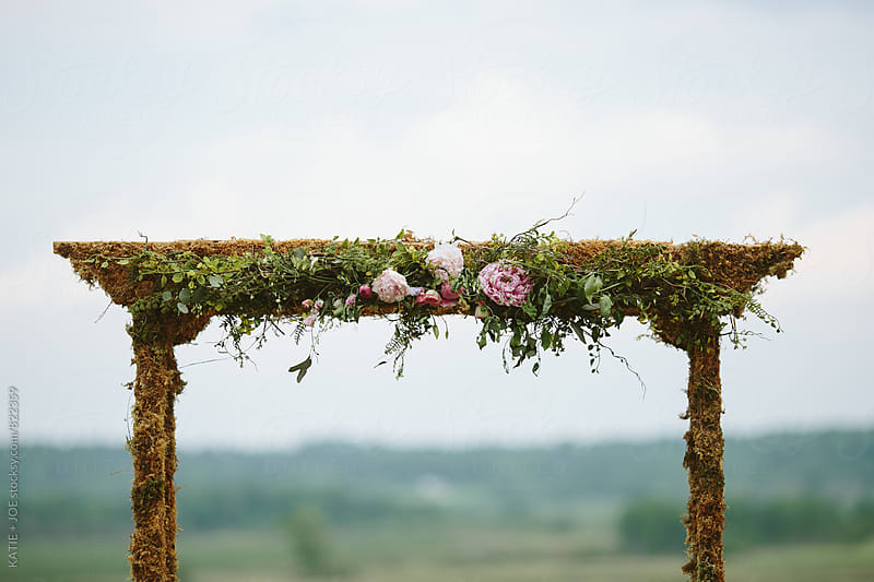 Pink Peony Arch by KATIE + JOE for Stocksy United